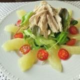 鶏胸肉とグレープフルーツのヘルシーサラダ