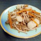 レンズ豆とカリフラワーのウスターソース煮