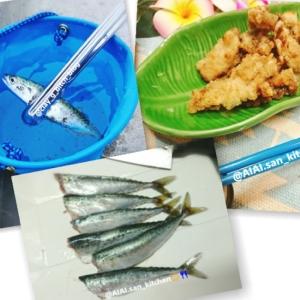 【豆鯖】生姜の塩竜田揚げ 子鯖 さば サビキ釣り