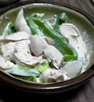 酒の肴:鶏ささみのマスタードマヨネーズ和え