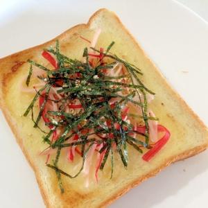朝食に☆かにかまの海苔マヨトースト