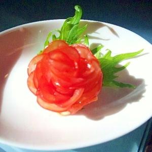 【アレンジ】クリスマスやパーティーに♪トマトのお花