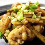 鶏ごぼうの甘辛炒め