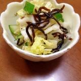 きゅうりと白菜の塩昆布和え