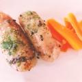 魚肉ソーセージのローズマリー&ペーパー焼き♪