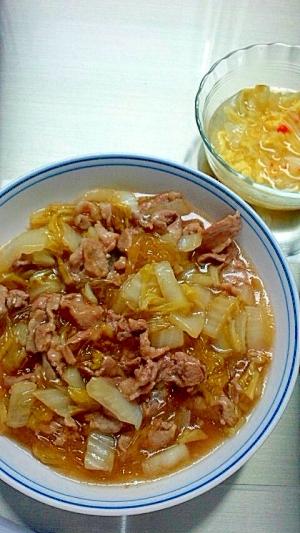 たっぷり白菜の簡単甘酢煮