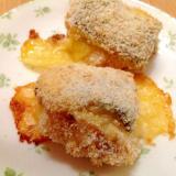 アンコウの海苔チーズパン粉焼き