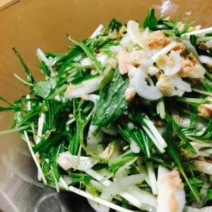 簡単に!新玉ねぎが美味しい☆春の水菜ツナサラダ☆