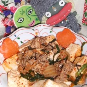 ウェイパーde肉キムチ豆腐