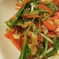 エビ風味がおいしい水菜のタイ風サラダ