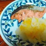 鮭の照り焼きの柚子おろし添え