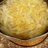 白菜と大根の白いパスタスープ