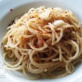 にんにくと唐辛子のファッロスパゲッティ