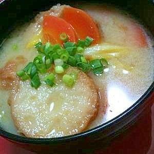 油麩(仙台麩)と白菜のお味噌汁