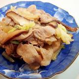 追いがつおつゆで 豚バラ・椎茸・白菜炒め