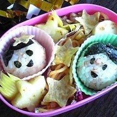 七夕に☆キャラ弁☆おりひめとひこぼしのお弁当☆