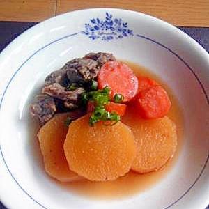 圧力鍋で作る★トロトロ牛筋と大根の煮物