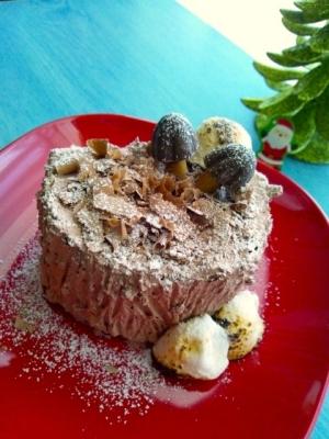 小さなブッシュドノエル☆市販のロールケーキで