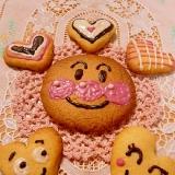 基本のバタークッキーにお絵かき♪チョコペン使用♪