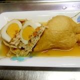 茹で卵と野菜の巾着煮