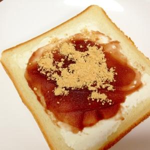 おやつトースト☆あんクリームチーズトースト