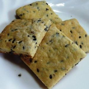 トースターで簡単おから黒ゴマクッキー