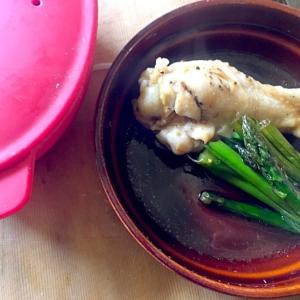 シリコンスチーマーde簡単蒸し鶏