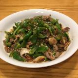 ラム 牛肉のピーマン  炒め・ジンギスカン風