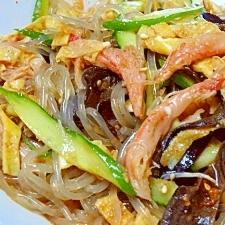 簡単・低カロ♪ 炒めない「蟹チャプチェ」