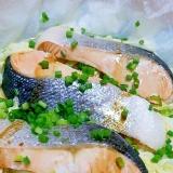 時短!鮭と白菜としめじの包み蒸し~バター風味