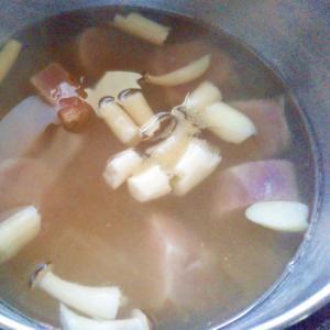 紫芋&しめじスープ