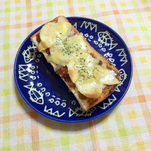 おつまみにも!海苔の佃煮とポテチのトースト♪