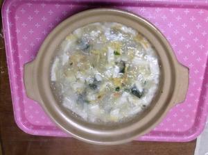 回復期用レシピ豆腐と卵に大根おろしのスープ