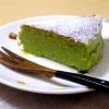 グリーンティー入りスフレチーズケーキ