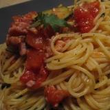 フレッシュトマトとイタリアンパセリのスパゲッティ