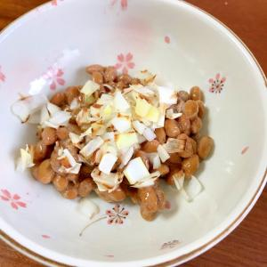 長ネギ×ごま油×納豆