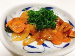 【夫婦のおつまみ】大葉さっぱり!鮭と野菜の味噌炒め