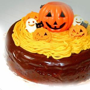 ハロウィンに!南瓜モンブラン風チョコのデコケーキ♪