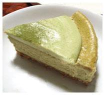 和の洋菓子!抹茶の二段チーズケーキ!