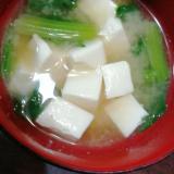 ほうれんそうと豆腐の味噌汁