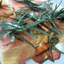 簡単☆厚揚げの明太子マヨソース焼き
