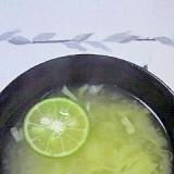 スダチのお味噌汁