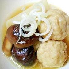 つくねと椎茸のマスタード煮