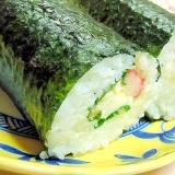 ❤卵サラダと大葉とカニかまの巻き寿司❤