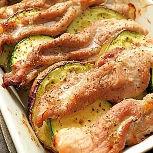 塩麹を使って♪夏野菜とポークのグリル