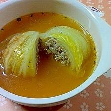 白菜のスープロール