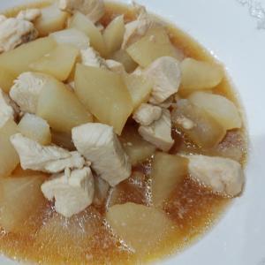 レンジ活用で時短の大根と鶏肉の煮物