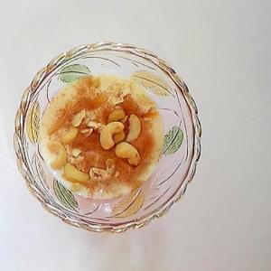 カシューナッツとレモンピールのヨーグルト