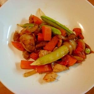 【手軽・ご飯進みます】ささみの野菜塩炒め