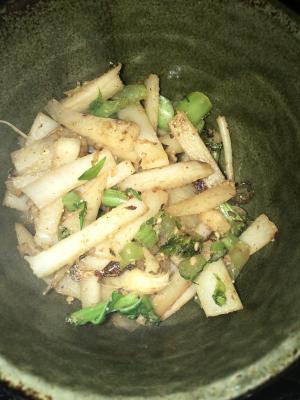 エコ料理魚の香り◎大根の皮のにんにく風味きんぴら